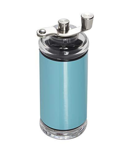Copco Compact Manual Adjustable Coffee Grinder, 6.5-inches, Aqua