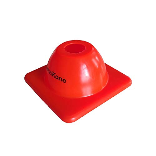 purifyou KamelKone Agility Training & Motorcycle Cones for Sports & Kids | Set of 12 Premium Green/Orange Plastic Cones, for Bikes, Traffic & Soccer (Orange)