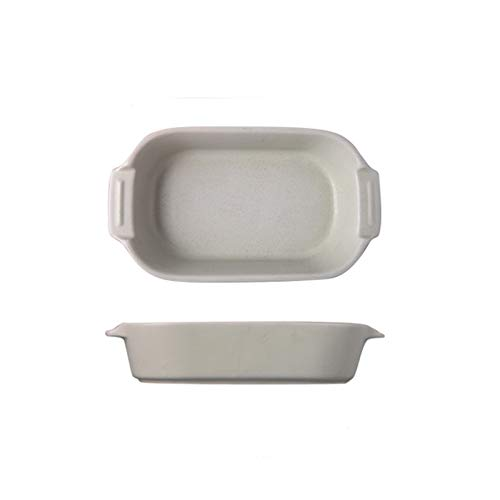 Xu Yuan Jia-Shop Platos Llanos Placa de Cena de cerámica Rectangular, Placa de Sopa de Uso Familiar con Mango, Placa para Hornear Adecuada para Queso, arroz, Color Surtido Platos de Comida