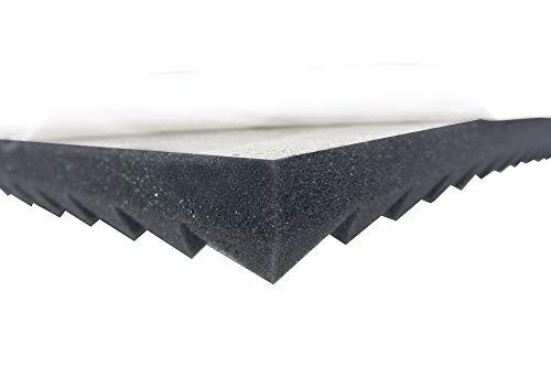 Pyramidenschaumstoff SELBSTKLEBEND TYP 100x50x3 Akustikschaumstoff Schalldämmmatten zur effektiven Akustik Dämmung …
