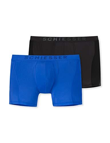 Schiesser Herren Multipack Cyclist (2er Pack) Boxershorts, Mehrfarbig (Sortiert 1 901), XX-Large (Herstellergröße: 008)