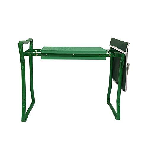 Yard Work Bench Garten Gardener Kniend Hocker Stuhl, Gartenhocker Beidseitige Arbeitstaschen Klappbar, Mit Werkzeugtaschen, Hilft Zu Stoppen Rücken- Und Beinschmerzen