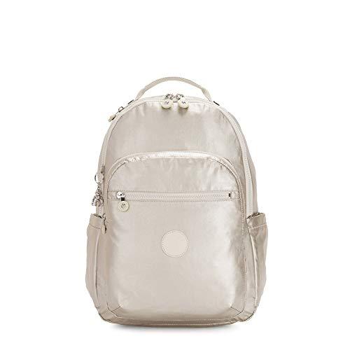 Kipling Women's Seoul Laptop Backpack, cloud Metal, One Size