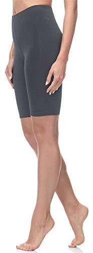 Merry Style Damen Kurze Leggings aus Baumwolle MS10-200 (Grau, XXL)