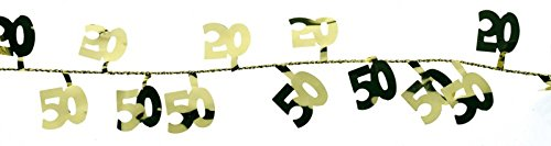 tib 14044 Drahtgirlande Nummer 50, Farbe gold, One Size