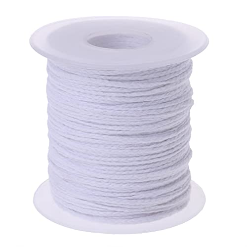 ZhuFengshop 1 unids 61m Trenza de algodón Vela de Tela de Tela de Tela núcleo Anti-Humo Bricolaje lámparas de Aceite Velas Suministros (Color : White)