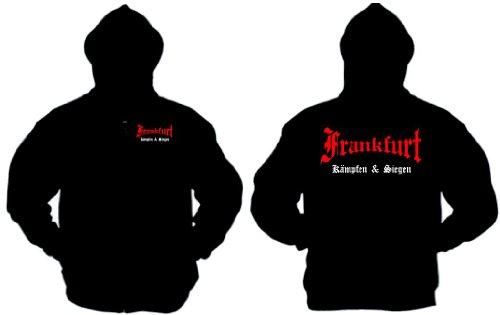 Frankfurt Ultras Kapuzenjacke kämpfen und Siegen schwarz-XL