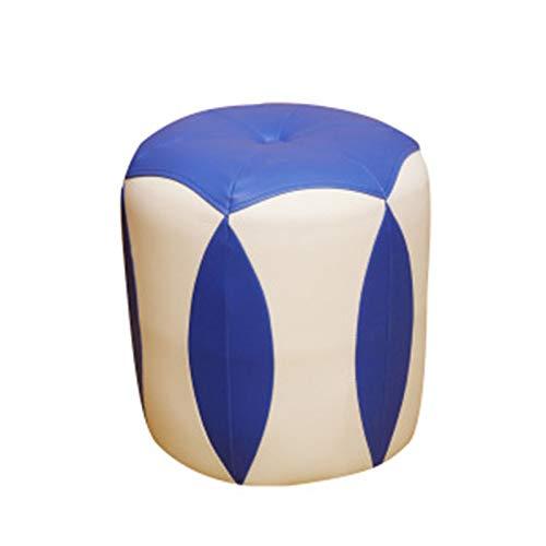 ZzheHou Taburete De Sofá Solución de Asiento de Taburete de Descanso del pie otomano for Sala de Estar Habitación for niños Habitación (Color : Azul, Size : 35x33cm)