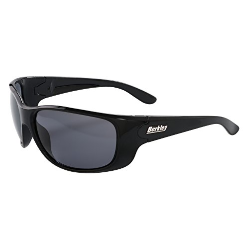 Berkley Saluda Sunglasses,Gloss Black/Smoke,L-XL