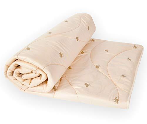 BALAK HOME® Premium Bettdecke Steppdecke Pure Sahara 135 x 200 cm aus 100{1bafa9f554cfbfbaf221d50c9a9bc8876ac64c9083d57458ab55f159db39f552} Baumwolle hochwertige Kamelhaar | Echte Kamelwolle | Original Oeko-TEX | Direkt vom Hersteller