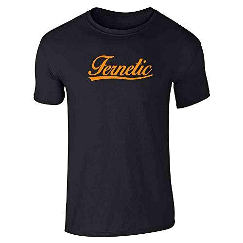 Pop Threads Fernetic Fernet Graphic Retro Black L Graphic Tee T-Shirt for Men