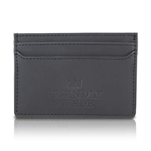 The Friendly Swede Brieftasche Kreditkartenhalter für die Fronttasche - Vreta (Schwarz Matt)