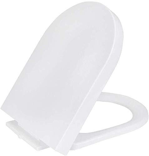 JN toiletbril U Type toiletbril Cover Plate, Stille Slow-Close toiletbril Deksel, Wit Huishoudelijk Premium toiletdeksel