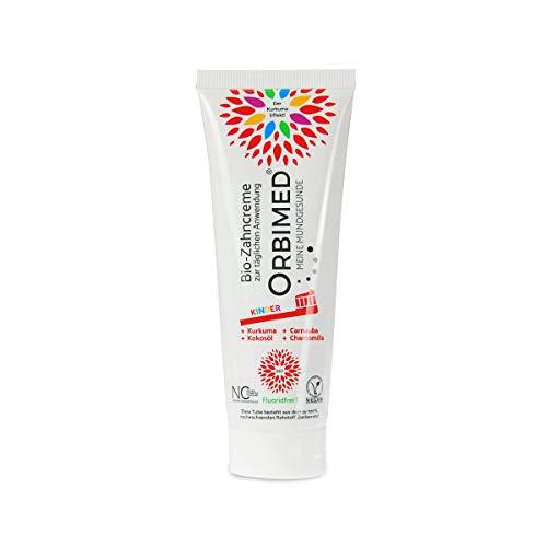 ORBIMED Bio-Zahncreme KINDER (1 X 75 Ml), Minzig-Süßlicher Geschmack, Bio Zahnpasta, Vegan, Fluoridfrei, Bei Homöopathischer Behandlung, Naturkosmetik