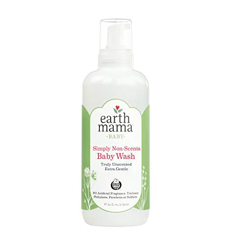 Earth Mama Simply Non-Scents Foaming Hand Soap Refill | Pure Castile Germ-Fighting Body Wash, 34-Fluid Ounce