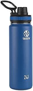 Takeya Originals Vacuum-Insulated Stainless-Steel Water Bottle, 24oz, Navy