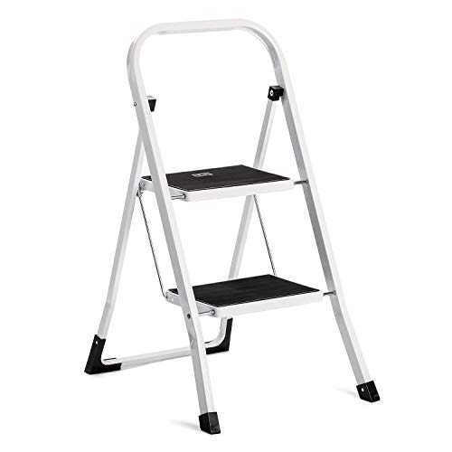 Acko Step Stool-2 Step Step Ladder for Adults with Handgrip and Anti-Slip Wide Pedal.Multi-Use for Household and Office Portable Compact Small Step Ladders Hold up to 330lbs Steel