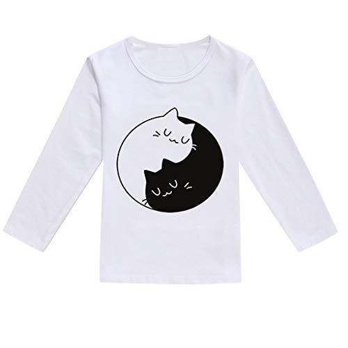 Vêtements Bébé, PENNGE Bambin Bébé Enfants Garçons Filles Printemps Dessin animé Impression Hauts T-Shirt Vetements décontractés