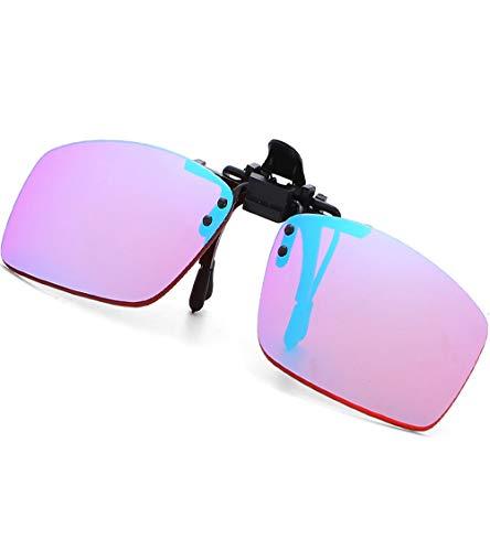 YHYABC Gafas para Daltonicos con Clip para Hombres Niños - Color Blindness Glasses for Men - Gafas Correctoras Color Ciego para Ceguera Verde Roja - Gafas para Daltonicos Ver Colores (Size : Pilot)