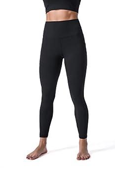 Sunzel Leggings for Women Naked Feeling Yoga Pants 7/8 with Side Pockets for Sports Workout Black