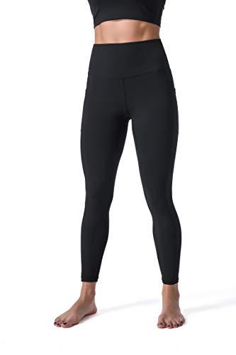 Sunzel Leggings for Women, Naked Feeling Yoga Pants 7 8 with Side Pockets for Sports Workout Black