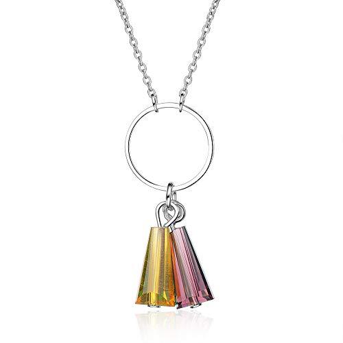 AllRing - Collar para Mujer con borlas de Cerezo en Forma de...