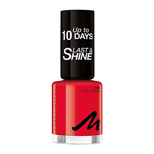 Manhattan Last und Shine Nagellack, Nr.600 Girlpower, 1er Pack (1 X 10 ml)