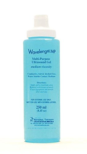 Ultrasonic Couplant High Frequency Gel 8.5oz Blue Bottle Medium to Low Viscosity