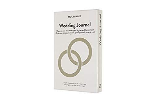 Moleskine Wedding Journal, Notebook a Tema, Taccuino con Copertina Rigida per Programmare ed Organizzare il Calendario Nuziale, Dimensione Large 13 x 21 cm, 376 Pagine