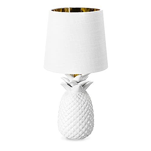 Navaris Lámpara de mesa vintage - Iluminación con forma de piña con rosca E14 para mesa de noche...