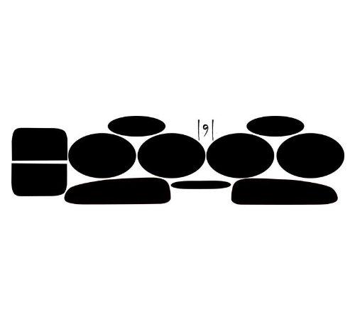 Subject 9 - Fits: Corvette Pre-Cut Vinyl Overlay Taillight Plus Tint (1997 1998 1999 2000 2001 2002 2003 2004) Dark