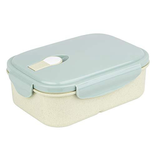 Meus Brotdose, Lunchbox mit Fächern aus Weizenstroh, Bento box für Kinder geeignet, Mealprep boxen, Nachhaltig, Auslaufsicher, BPA frei
