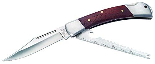 Herbertz Unisex Youth Anglermesser, Aisi 420, mit Fischschupper Messer, grau, M