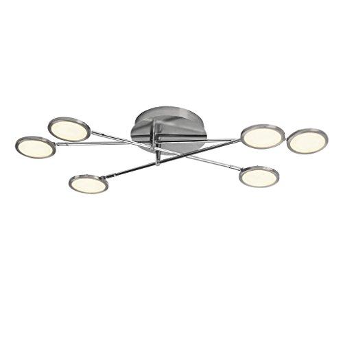 Brilliant Pluto LED Deckenleuchte 35x78cm 6 flg dimmbar durch EasyDim-Technologie schwenkbar eisen/weiß 3000 Lumen, LED integriert