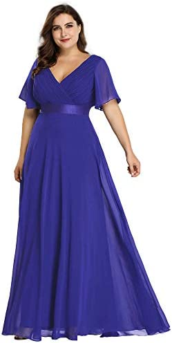Ever Pretty Plus Size Evening Cocktail Formal Evening Gown Sapphire Blue US26 product image