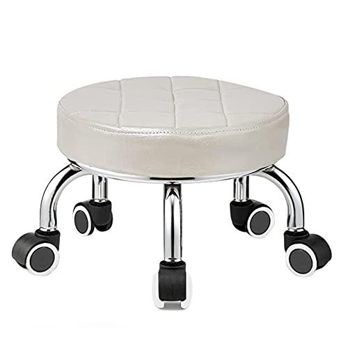QLIGAH Piccolo Sgabello Bambino scrivania Piccola Sedia da Cuscino Morbido con Ruote rotolabili Basse