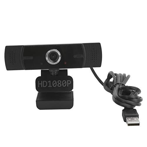 Jectse 1080P HD Webcam, USB Webcam Live Webcam Cámara de computadora Micrófono Digital Incorporado, Plug and Play, para computadora de Escritorio, portátil, etc.