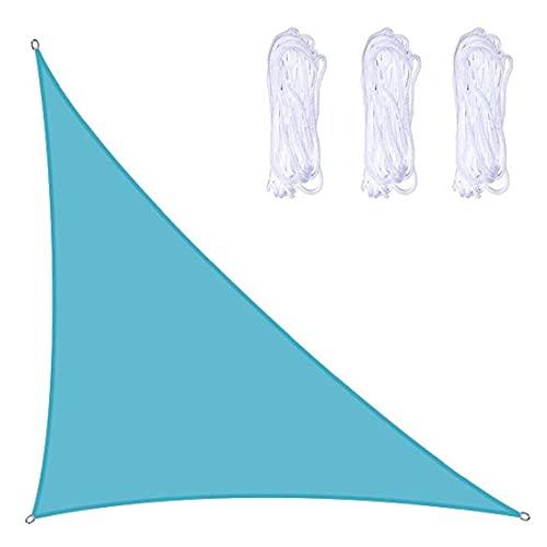 Toldo de bloque UV DealMux para vela, toldo para exteriores a prueba de vatios, toldo para el sol, 3x4x5m, azul, suministro para el hogar