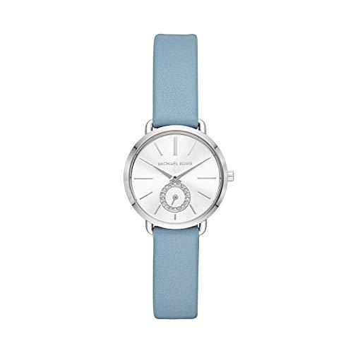 Michael Kors Damen Analog Quarz Uhr mit Leder Armband MK2733