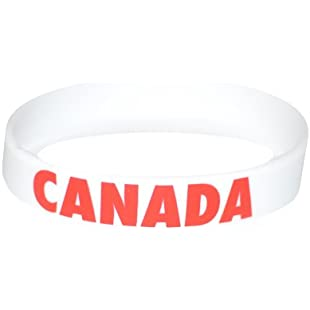 Sussex Supplies Canada White Olympics Silicone Wristband (Pack of 1):Peliculas-gratis