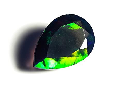 HIMALYA QUARTZ Ópalo etíope natural de 1 ct AAA grado negro piedra semipreciosa ópalo EPB 359