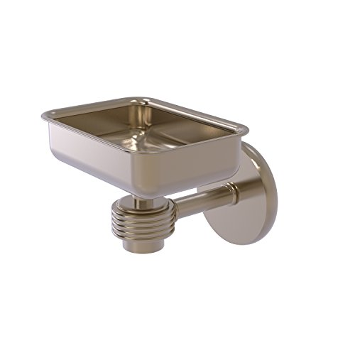 Allied Brass 7132G-PEW Satellite Orbit One Wall Mounted Groovy Accents Soap Dish, Antique Pewter