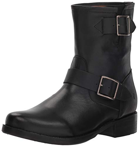 Frye Vicky Engineer Ankle Boot, Black, 7 M US