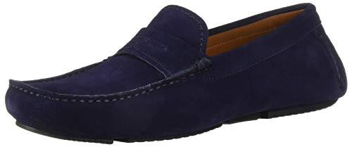 Aquatalia Men's Brandon Suede Driving Style Loafer, Dark Navy, 7.5 M US
