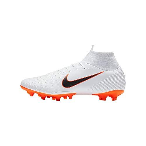 Nike Mercurial Superfly Vi AG Pro, Zapatillas de Fútbol Hombre, Blanco (White/Chrome-Total...