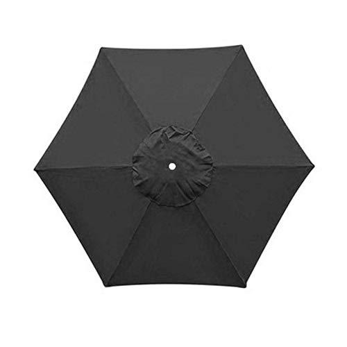 WEARRR Hexagon Forma 2M Paraguas Cubierta Cubierta sombrilla Cubierta Paraguas Polvo toldo toldo Courtyard Beach Protector Fade-Prueba (Color : Black)