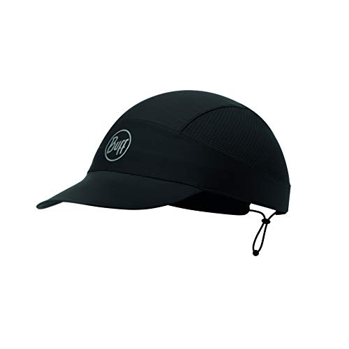 Buff Erwachsene Pack Run Cap, R-Solid Black, One Size