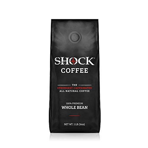 Shock Coffee Whole Bean | Caffeinated All Natural - Up to 50% More Caffeine than Regular