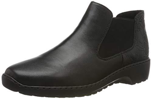 Rieker Damen L6090 Chelsea Boots, Schwarz (schwarz/schwarz 03), 42 EU