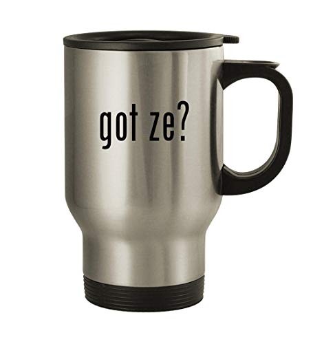 got ze? - 14oz Stainless Steel Travel Mug, Silver